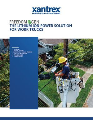 The Lithium Ion Power Solution for Work Trucks