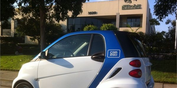This car2go smart car was often stationed in front of the Torrance, Calif. offices of Auto...