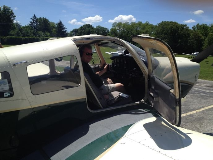 Tom Mellett has been piloting his four-seat, single-engine Piper Archer plane in the service of Angel Flight East since 2003. - Photo courtesy of Angel Flight East's.