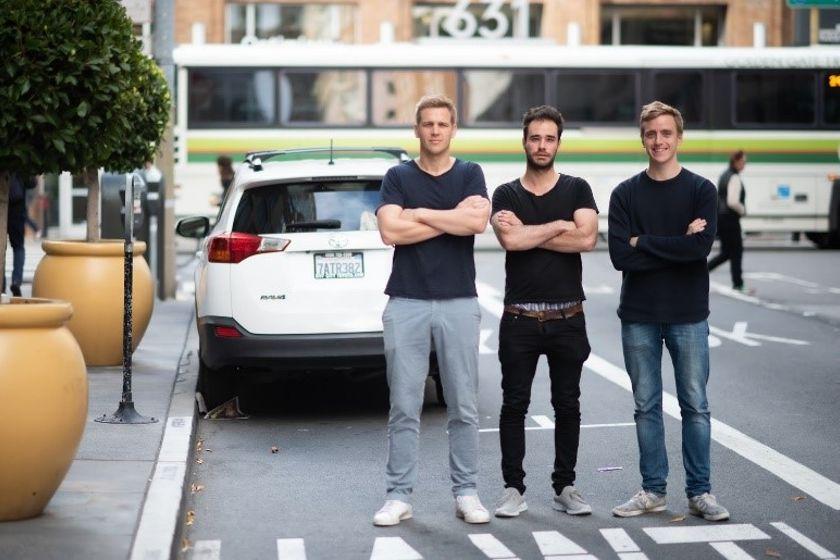 Kyte founders Ludwig Schoenack (left), Nikolaus Volk, and Francesco Wiedemann spent their early...