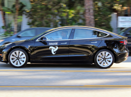 Founded in July 2015 by then-16-year-old Haydn Sonnad, Culver City-based Tesloop offers shared rides between cities in Tesla's all-electric, semi-autonomous vehicles. Photo courtesy of Tesloop.