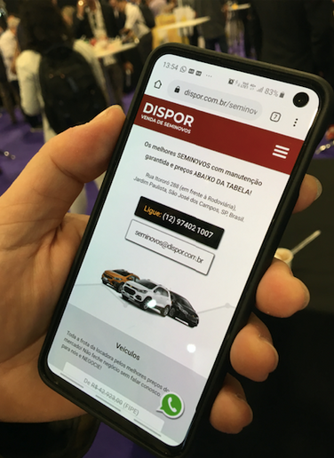 While the market for internet sales of de-fleeted rental cars isn't fully formed, one small independent operator started this mobile-optimized website to sell his rental vehicles. - Photo by Chris Brown.