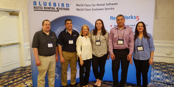 The Bluebird Auto Rental Systems team at the 2018 International Car Rental Show.