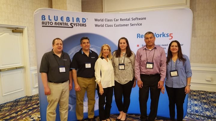 The Bluebird Auto Rental Systems team at the 2018 International Car Rental Show.  - Photo courtesy of Bluebird Auto Rental Systems.