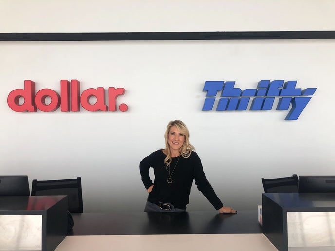 Molly Flodman is a franchise owner of the Dollar and Thrifty brands serving Omaha's Eppley Field. - Photo courtesy of Molly Flodman.