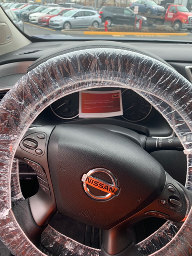 The Sixt franchise serving Indianapolis now uses a steering wheel cover as part of its vehicle sanitation process. - Photo courtesy of Phil Spink.