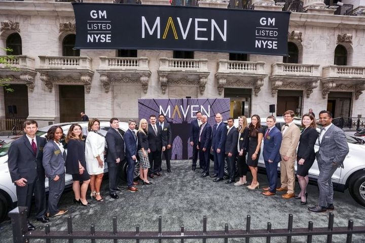 The Maven team tours the New York Stock Exchange in May of 2017 as it celebrated a New York City expansion. GM had poised Maven to be its foray into mobility services. - Photo courtesy of General Motors.