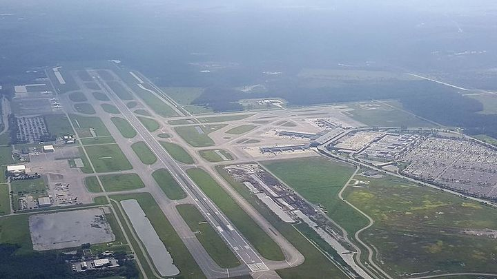 An arial view of Fort Myers Southwest Florida International Airport. - Photo via Wikimedia Commons/Matt5067