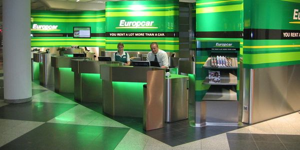 A Europcar desk at Munich Airport.