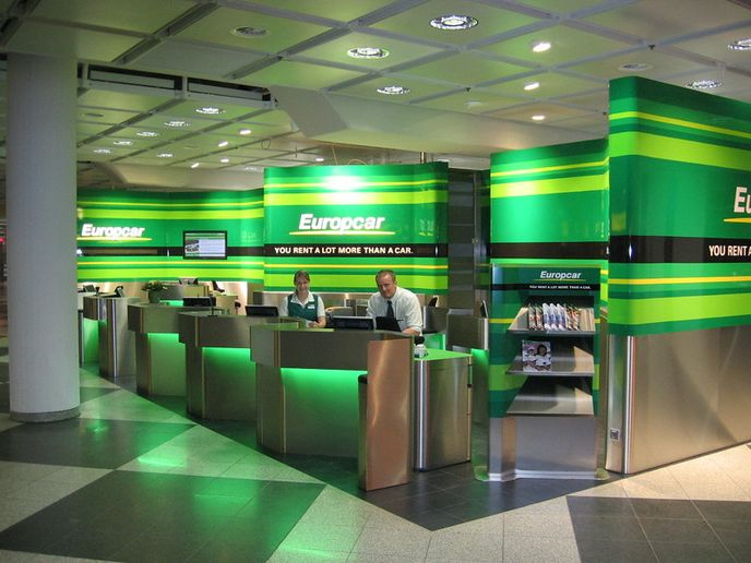 A Europcar desk at Munich Airport. - Photo via Flickr/Jorg.