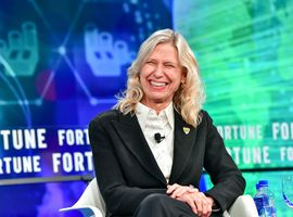 Kathy Marinello spoke at Fortune's Brainstorm Reinvent in 2018.