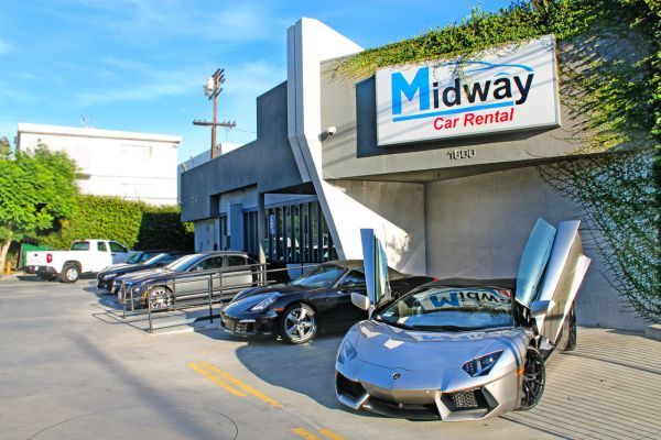 Several of Midway's locations, including its West Los Angeles office,have electronically secure gates or fences to help restrict access. But as Midway continues to expand, many of its future sites could face security issues. - Photo courtesy of Midway Car Rental.