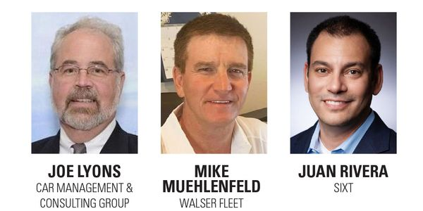 Panelists Mike Muehlenfeld of Walser Fleet, Joe Lyons of Car Management & Consulting Group, and...