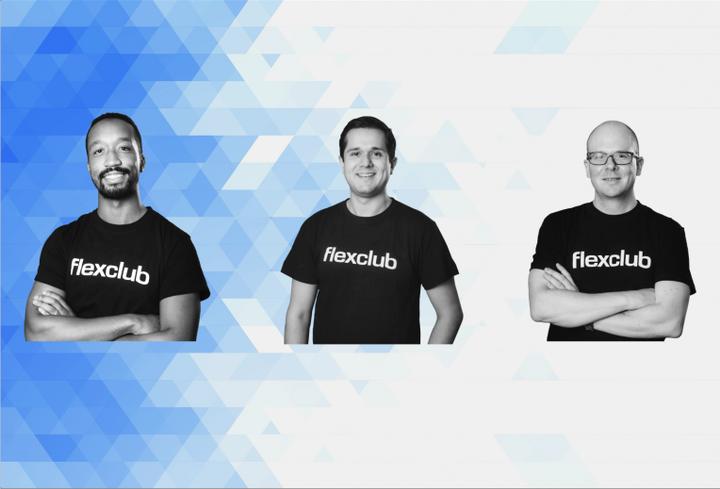 From left to right, Tinashe Ruzane (CEO & co-founder), Marlon Gallardo (VP, LATAM & co-founder) and Rudolf Vavruch (CTO & co-founder). - Photo via FlexClub.