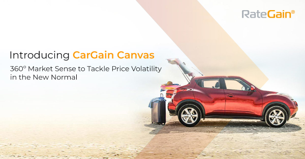 Car rental companies can use CarGain Canvas's filter options to analyze historical trends and track instant market changes by monitoring booking pace, tracking utilization, and get a 360-degree view of the market. - Image courtesy of RateGain.