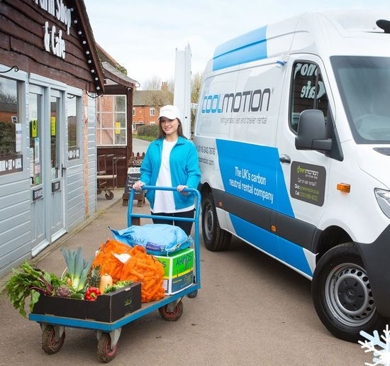 The service has gone live at four pilot locations in the United Kingdom, supporting central England and Scotland, and provides a range of chilled and refrigerated vans, trucks, and trailers for rental. - Photo courtesy of Green Motion.