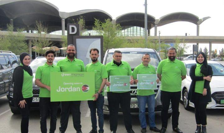 From right to left — Team Green Motion Jordan: Stella, Mr. Maher, Mark, Nedal, Kareem, Mohammad, Lowrance and Hanin. - Photo via Green Motion.