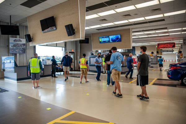 The Manheim Used Vehicle Value Index stood at 194.0 in April, a record high for the Index and continuing its hockey stick-like trajectory. - Photo of Manheim Nashville auction courtesy of Cox Automotive.