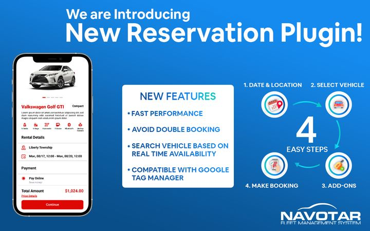 The plugin features a customizable reservation process to different website designs. - Photo via Navotar.