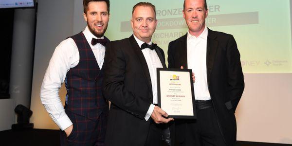 BBC and ITV presenter Jonny Nelson (left),Green Motion Founder andCEO Richard Lowden (center)...