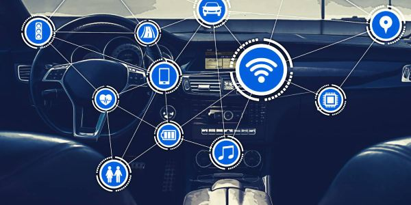 Connected car technology can help rental operators streamlinetasks such as checking fuel levels...