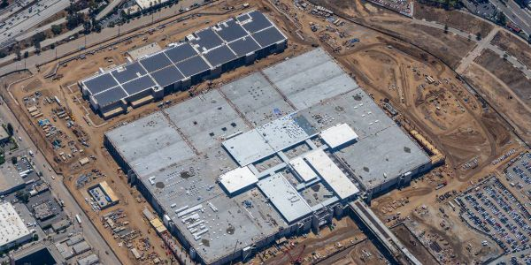 Pictured here is an aerial view of the Consolidated Rent-a-Car facility, which upon completion...