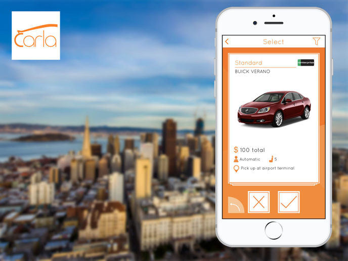 This allows travelers to purchase car rental insurance at half the counter price.Carla provides a mobile first solution to car rental targeted for last minute travelers. - Photo via Carla Car Rental.