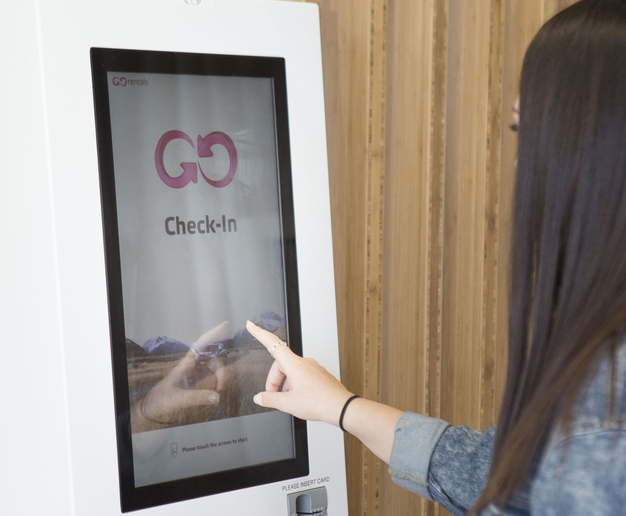 Kiosks were initially in place at Auckland Airport and Christchurch branches and have now been rolled out across all GO Rentals branches nationwide this year. Photo courtesy of GO Rentals.  -
