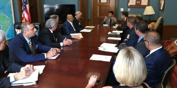An ACRA delegation meets in a Congressional office to discuss car rental issues during the 2019...