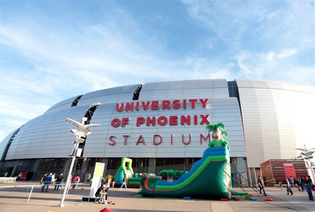 The University of Phoenix Stadium is one of the facilities partially funded by the rental tax surcharge. - Photo via Gage Skidmore/Flickr.