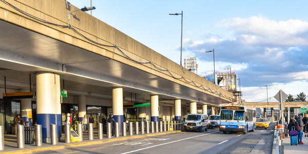 Hampton Jitney riders will be able to book flat-rate shared Via rides between the LaGuardia...