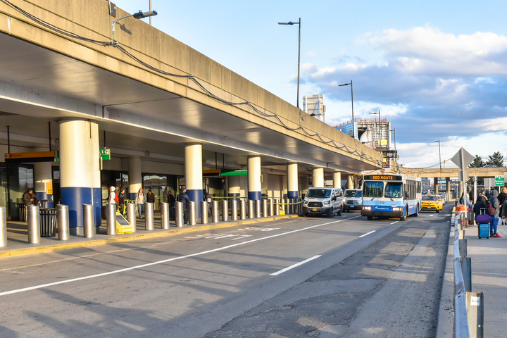 Hampton Jitney riders will be able to book flat-rate shared Via rides between the LaGuardia ($24) or JFK Airports ($29) and the Hampton Jitney Airport Connection in Queens. - Photo via Depositphotos.