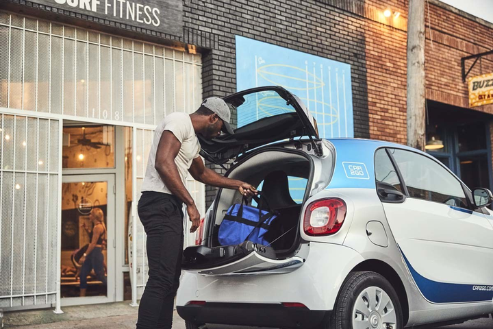 Beginning today, car2go will offer a fleet of 400 vehicles for rent, including smart fortwos and Mercedes-Benz CLA and GLA vehicles, as part of the pilot program approved by City Council in March 2018. - Photo courtesy of car2go.