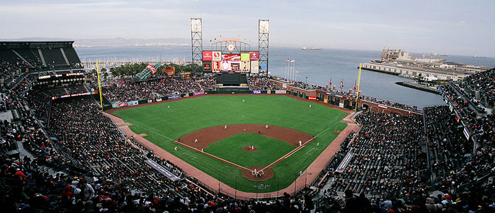 In San Francisco, National's sponsorship will include signage visible on the Giants' new batter's box LED sign.  - Photo viaBspangenberg/Wikimedia.