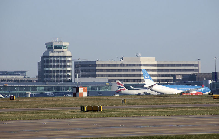 Manchester Airport is a major hub for travelers coming to the U.K. from the U.S., Australia, and Europe, and is expecting further growth in passenger volumes.  - Photo viaAdrian Pingstone/Wikimedia.