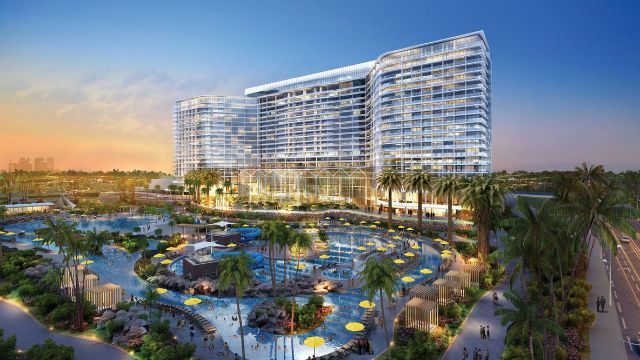 The 1,600-car parking structure is supposed to be built in conjunction with a new convention center, hotel, shopping center, and other amenities. 