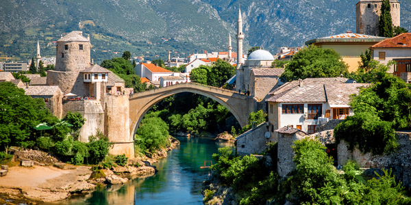 Located in the Balkans, Bosnia and Herzegovina is surrounded by mountains, numerous medieval...