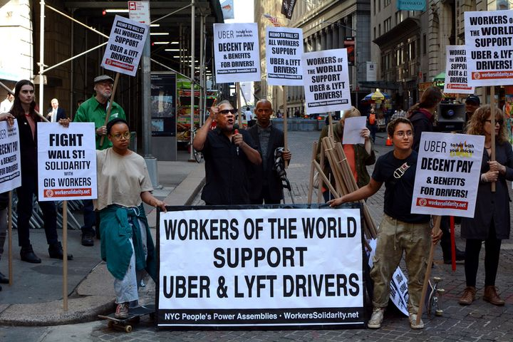 Uber and Lyft have said they support the bill's goal to protect workers, but disagree on reclassifying drivers as employees. - Photo via Depositphotos.