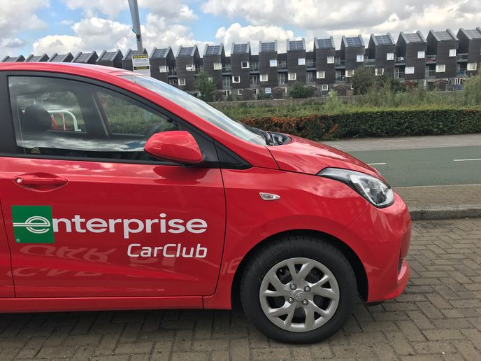 Enterprise Car Club has six car club vehicles around the city, located by the town hall, the Red Jet terminals, and now also at the railway station. - Photo courtesy of Enterprise.