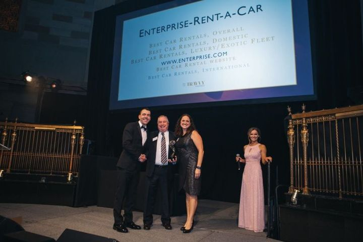 Enterprise Rent-A-Car took home five total awards at the 2019 Travvy Awards. 