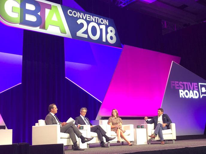 """All of that organic growth – along with a very large acquisition in there – gives us access to global and diverse customers,"" Enterprise Holdings Executive Vice President and Chief Operating Officer Christine Taylor said during the GBTA panel discussion. - Photo courtesy of Enterprise Holdings."