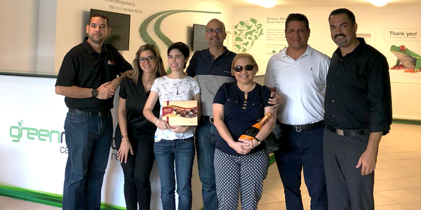 The first customers at Green Motion's Fort Lauderdale's location all received a welcome gift,...
