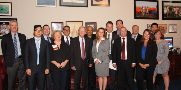 The ACRA delegation joins Senator Jim Inhofe (R-OK, center), co-sponsor (along with Tammy...