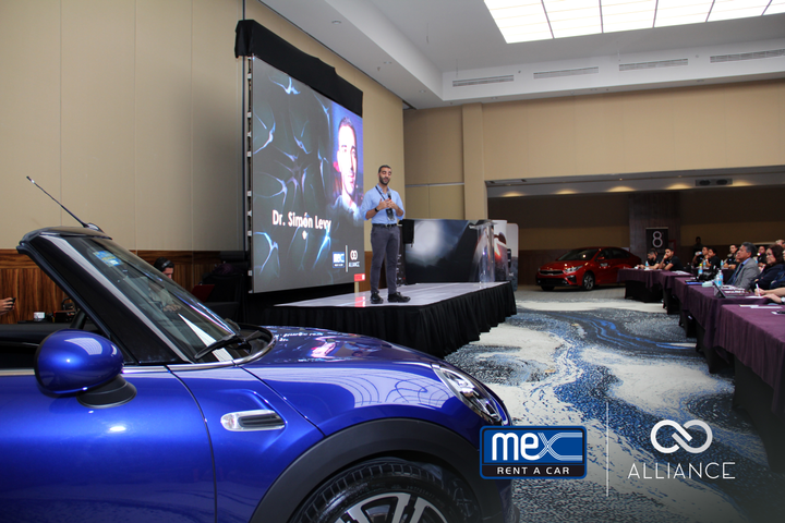 During the presentations, the Mex team talked about the company's latest advancements and how Mex Rent a Car is strengthening its technological foundations to offer better mobility solutions. - Photo via Mex Rent A Car.