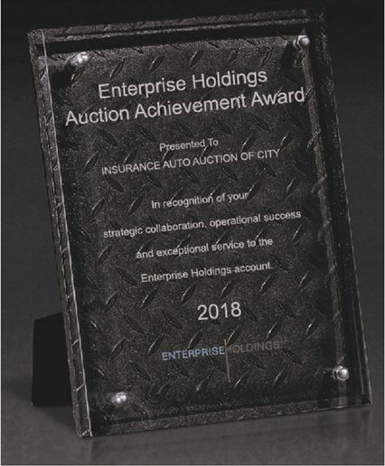 The annual program recognizes Enterprise Holdings' auto auction partners for their exceptional services and support efforts to remarket the company's late-model, low-mileage, well-maintained rental and fleet vehicles to potential buyers, whatever their need may be. - Photo via Enterprise.