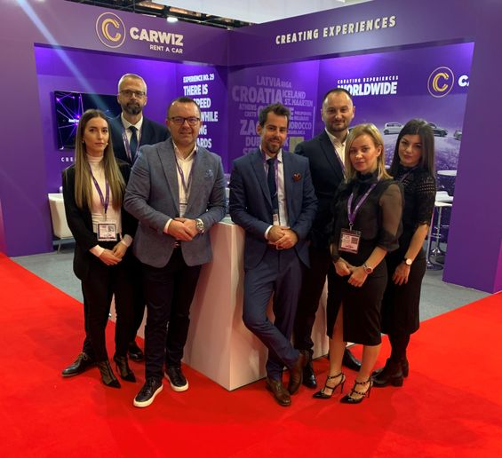 It is estimated that more than 50,000 people visited this year's WTM, including the Carwiz Croatia team. - Photo courtesy of Carwiz.