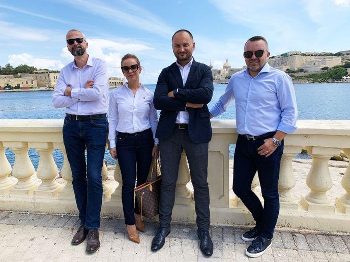 (Left to right) Vladimir Banović, Barbara Mrkić, Borko Ribić, and Krešimir Dobrilović. - Photo via Carwiz.