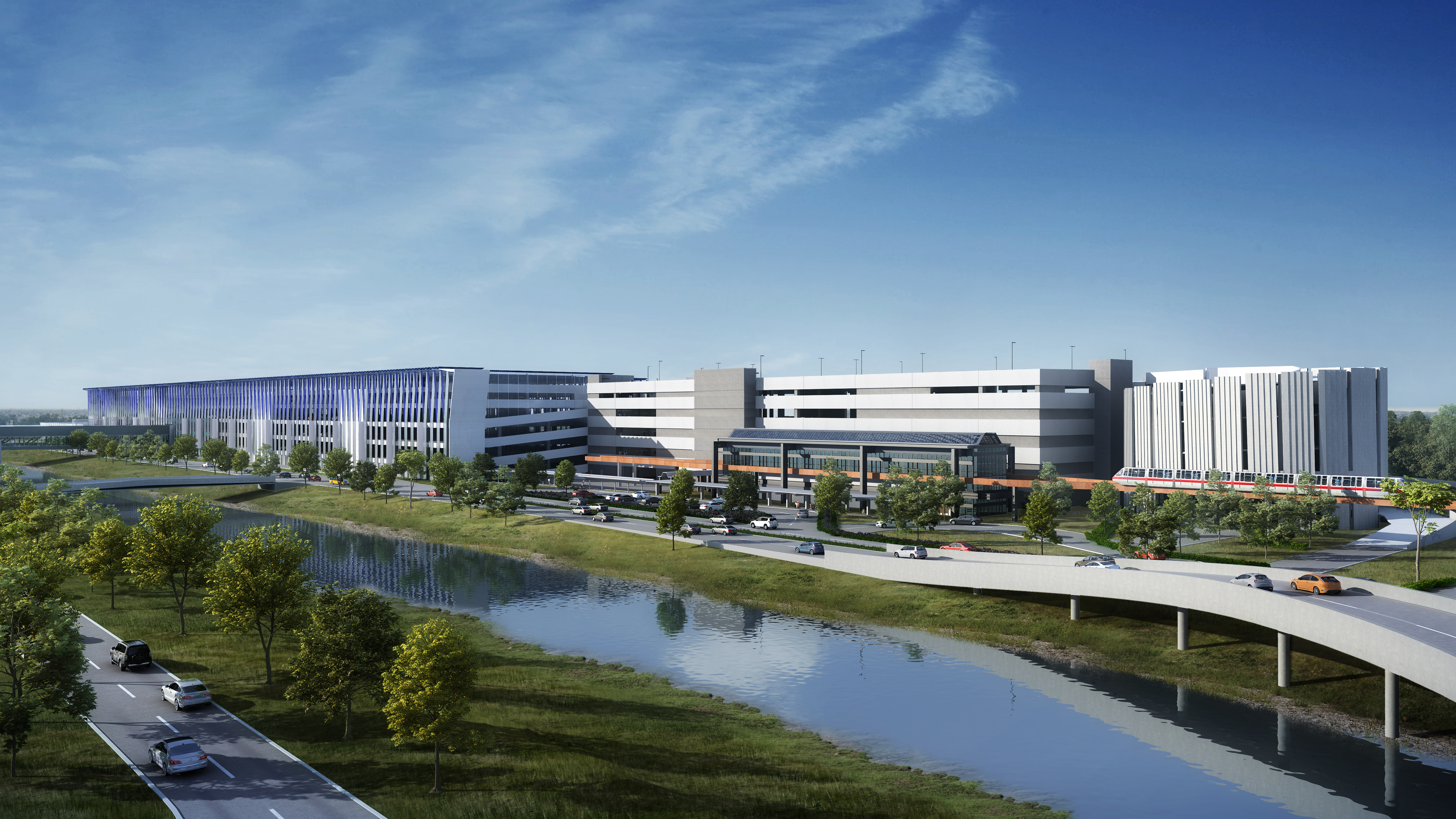 The 2.7 million-square-foot development brings all 10 rental brands at Newark under one roof, conveniently located adjacent to the Terminal One Redevelopment Project. - Photo courtesy of Conrac Solutions.