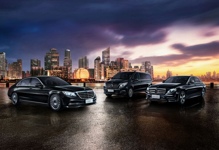 he 50-50 joint venture between Daimler Mobility AG and Geely Technology will be launched with a fleet of 100 vehicles including Mercedes-Benz S-Class, E-Class, and V-Class vehicles. - Photo via Daimler.