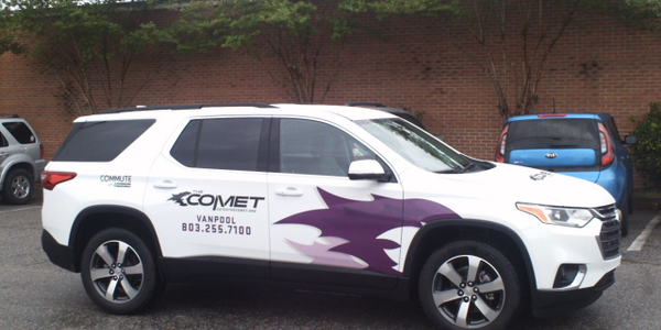 COMET Vanpool is now available to all companies and organizations in the Columbia metropolitan...